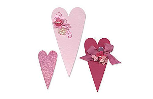 (Sizzix Bigz BIGkick/Big Shot Die, Primitive Hearts)