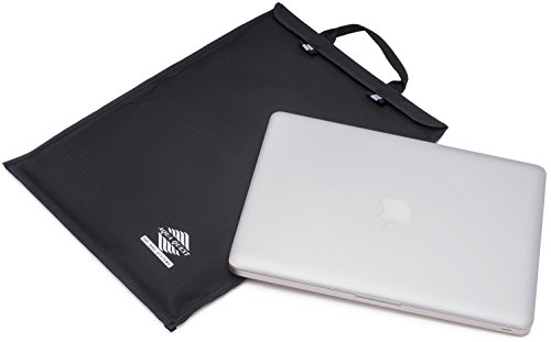 Aqua Quest Storm Laptop Case - 100% Waterproof Pouch for Apple, Samsung, Acer, Dell, Asus, Lenovo, HP Lightweight Sleeve - 13 inch, Black Cargo Laptop Sleeve Case
