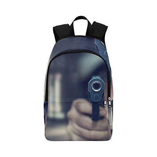 Pistol Bullets and Pistols Casual Daypack Travel Bag College School Backpack for Mens and Women