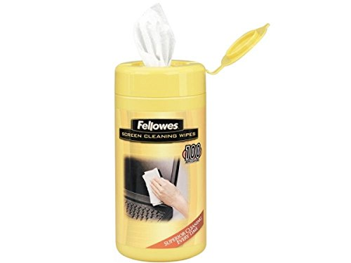 Fellowes 99703 Screen (99703 Fellowes, Inc. Fellowes Screen Cleaning Wipes Safely Remove Dust, Dirt, And Fingerprints From G)