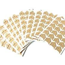Gold Self Adhesive Photo Corners - VEEPPO 240pcs Photo Mounting Corners Self Adhesive Paper for Photo Book Scrapbook (Kraft color)