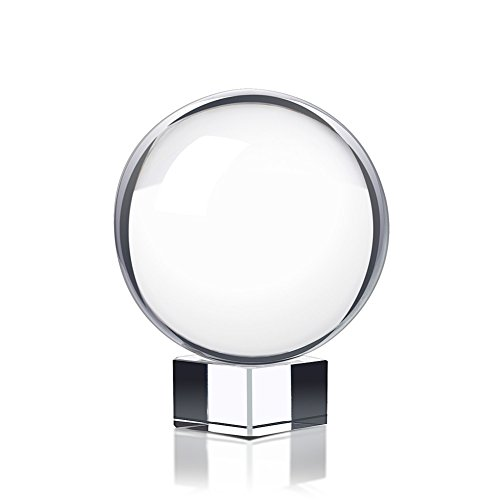 Chunkai 80mm/3inch Clear Crystal Ball with Stand for Photography Decoration