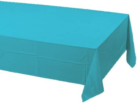 Creative Converting 711039 Paper Banquet Table Cover, Bermuda Blue