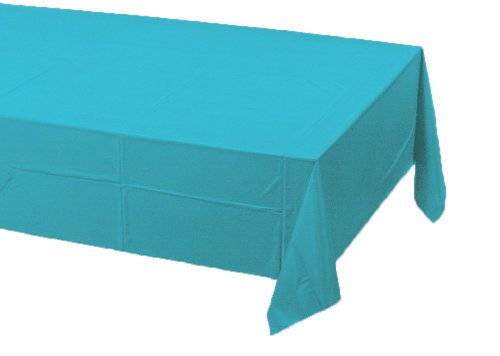 Creative Converting 711039 Paper Banquet Table Cover, Bermuda Blue ()