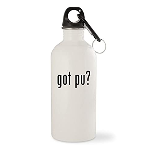got Pu? - White 20oz Stainless Steel Water Bottle with Carabiner (Mosin Nagant Pu Mount)