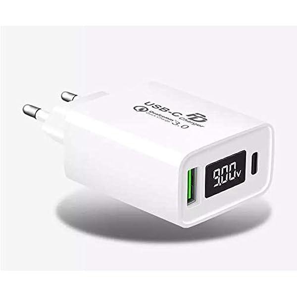 Cargador USB con Pantalla LED Digital TTMOW Carga Rápida con ...