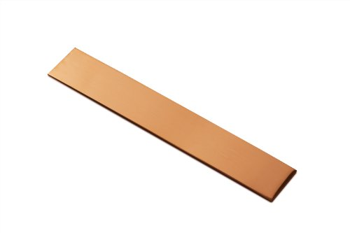 "RMP Copper Bracelet Blanks - 1"" Width X 6"" Length X .021"" Thickness - 10 Pack"
