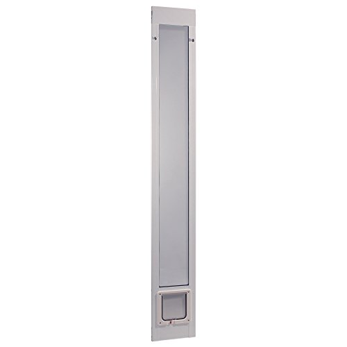"Ideal Pet Products 96PATCFW 96"" Fast Fit Aluminum Pet Patio Door with Flap Mill, Small/6.25"" x 6.25"", White"