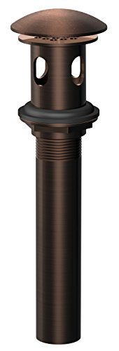 Danze D495008BR Lavatory Drain with Overflow, Cover and Grid Strainer, Tumbled Bronze