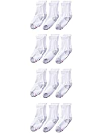 Hanes Boys' Classics Crew Socks (Pack of 12)