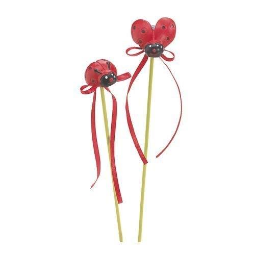 - Burton & Burton (2) Red & Black Resin Lady Bug 9