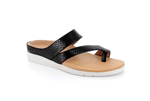Footwear Sandales Lizard Femme Black Skin Pour Strive AzWqHwUTq