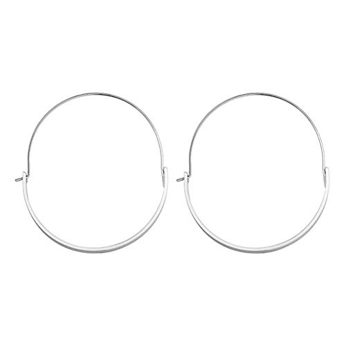 Big Round Earrings, Fashionable Women Jewelry Alloy Big Round Dangle Hoop Loop Earrings Girl Accessory (02)