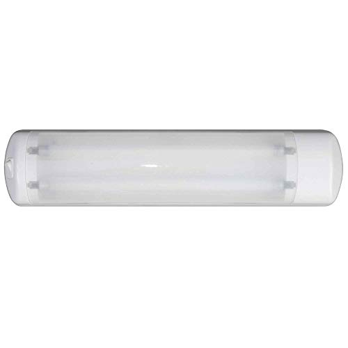 Five Oceans Marine Dual Fluorescent Tube Light w/On-Off Rocker Switch, 12V FO-2202