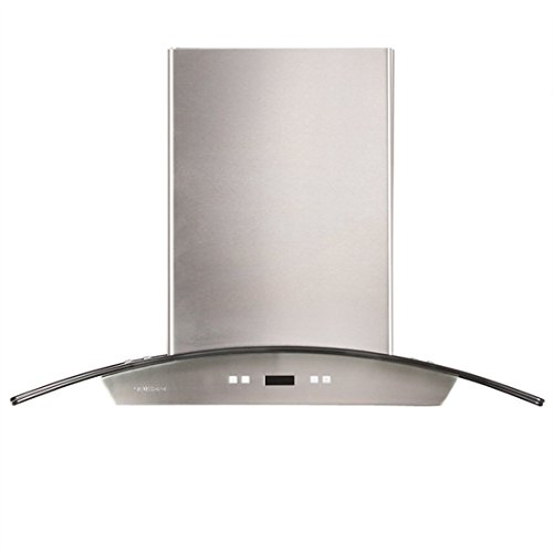 CAVALIERE 36'' Wall Mounted Stainless Steel / Glass Kitchen Range Hood 900 CFM SV218D-36 by CAVALIERE (Image #1)