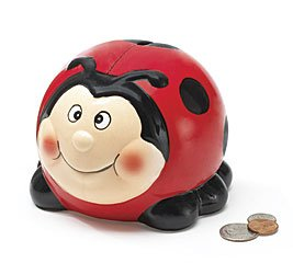 Adorable Ladybug Lady Bug Piggy Bank Great Gift