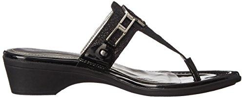 Amina Marc Fisher Black Mid Sandal Glitter Black Women's WrEnZUr