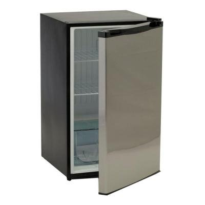 4.5 Cu. Ft. Mini Refrigerator in Stainless Steel Great for an Outdoor Island