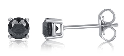 14-200-Cttw-Black-Diamond-Stud-Earring-in-Sterling-Silver