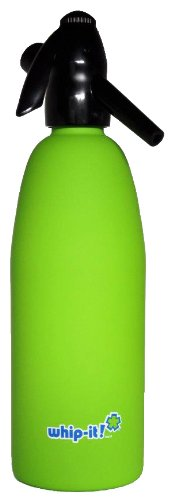 Whip-It 1-Liter Soda Siphon, Rubber Coated, Lime by Whip-it!