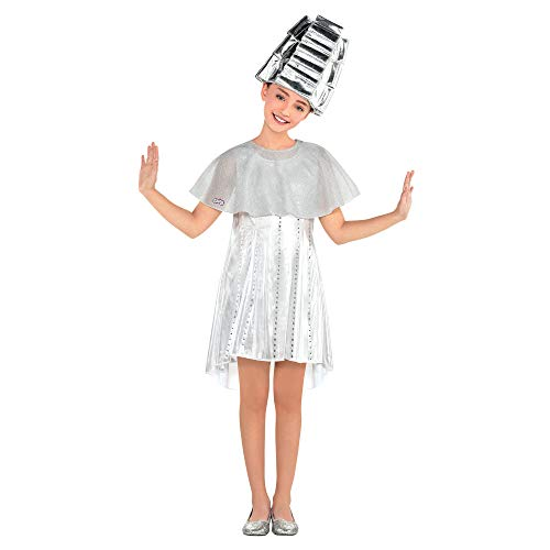 amscan Girls Beauty School Dropout Costume, One Size Silver]()