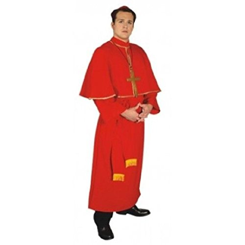 OvedcRay Adult Mens Cardinal Catholic Priest Pope Pastor Christopher Bishop Costume Red