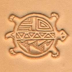 Tandy Leather 3D Round Turtle Stamp 88455-00