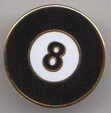 Billiard Pot Pool premio Black del Ball Broches pZIfPf