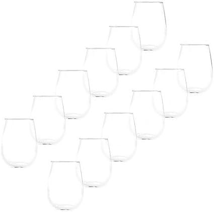 All Purpose 17 Oz Stemless Wine Glasses Set Of 12 Wine Glasses