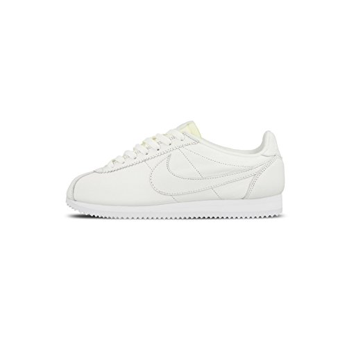 Nike Men's Classic Cortez Prem Running Shoes, White, 10.5 UK Weiß (White/White)