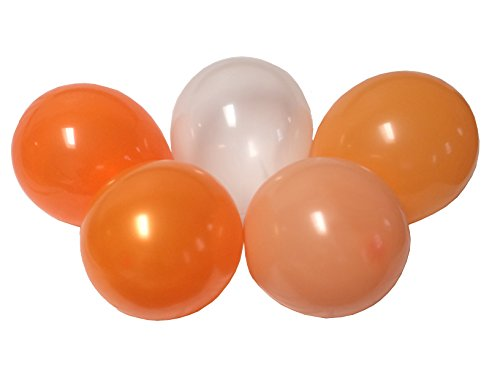 Orange Mango Peach Tangerine Assorted Mixed Orange 13 Inch Rubber Latex Party Balloons for Wedding Bridal Baby Shower Special Event (50 pcs)
