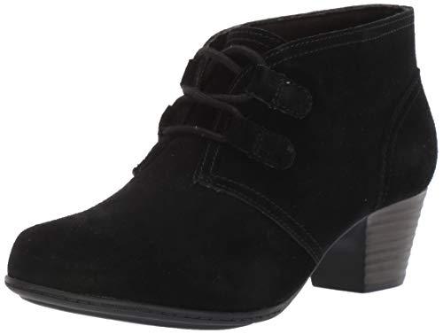 CLARKS Women's Valarie Code Ankle Boot, Black