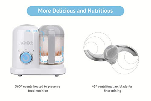 QOOC 4-in-1 Mini Baby Food Maker by minne (Image #5)