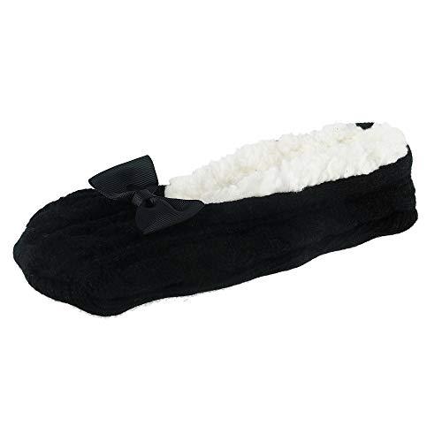 Pour Taille Unique Noir Chaussons Femme Ctm tgx6f5IwIn