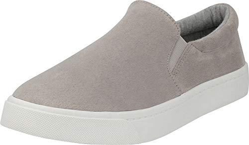 b690167bead8 Cambridge Select Women's Classic Round Toe Stretch Slip-On Flatform Fashion  Sneaker,7.5 M