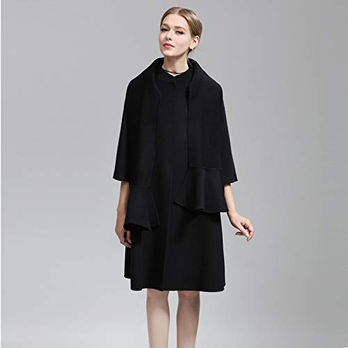 In Coat Vioy Maniche Giacca Boucle A Caldo Lunghe Autunno Donna Da Vento E Vintage nero Lana Ricamo Inverno m YqwHxf7CKH