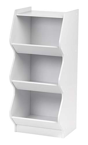 (IRIS 3 Tier Curved Edge Storage Shelf, White)