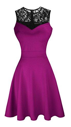 Цвет: пурпурный с черным цветочным кружевом