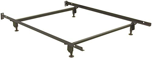 Fashion Bed Group Inst-A-Matic Premium Bed Frame 753G with Headboard Brackets and (4) 2-Piece Glide Legs, Black Finish, Full