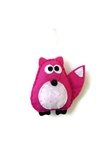 Pink Marionette - Estelle the Hot Pink Fox Christmas Ornament