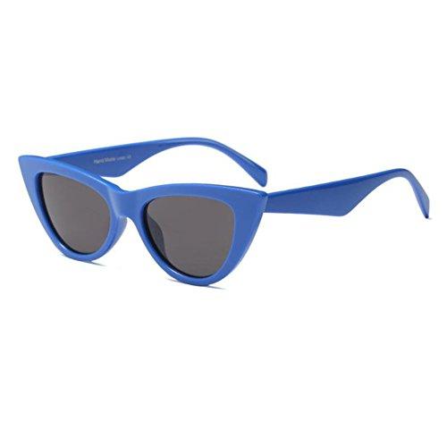 Estilo Moda 9 UV400 Grey súper Mujer sol Gafas de Lente Xinvision de de Color Bisagra Escoger Retro C4 Ojo Blue para Marco gato Enorme Gafas primavera pUAqd
