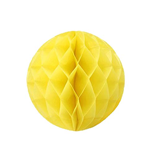 - Dailygo 10pcs Paper Honeycomb Balls Paper Flower Ball Tissue Honeycomb Ball Paper Pom Poms for Birthday,Wedding,Party Decor, Baby Showers (6inch, Yellow)