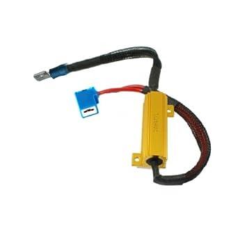 RH1 - Error gratuito LED de carga Resistencias Adaptador de cableado Decoder Advertencia cancelador para lámparas Bombilla LED con H1 Socket: Amazon.es: ...