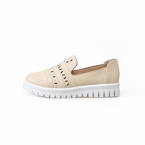 Baret Womens Casual Mode Comfort Manchet Hol Flats Schoenen Beige