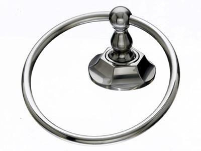Top Knob Edwardian Bath Ring - ED5BSNB - Brushed Satin Nickel - Hex Back Plate
