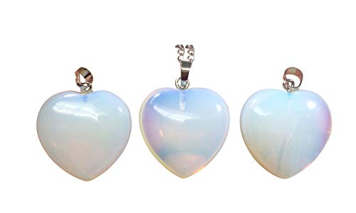 You are My Only Love Lab Opal Necklace Healing Crystals Reiki Chakra 18-20 Inch Gemstone Pendant Heart Necklace Great Gift #GGP8-7 -
