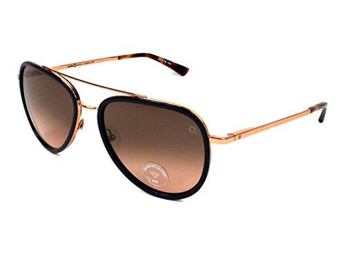Etnia Barcelona Diagonal BDPK Blue/Havana/Rose Gold Aviator Sunglasses - Sunglasses Barcelona