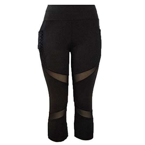 1eacd8fd404cef Women's Mesh Panel Capri Leggings Workout Yoga Running Crop Pants  Compression Fitness Capris Yoga Pant Tights: Amazon.ca: Clothing &  Accessories