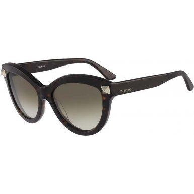 Valentino Metal Sunglasses (Valentino Valentino Women's Sunglasses V695s, Brown, 56)