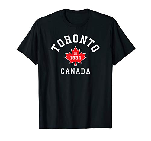 Toronto Canada T-Shirt Canadian Flag Maple Leaf Gift Tees Eh
